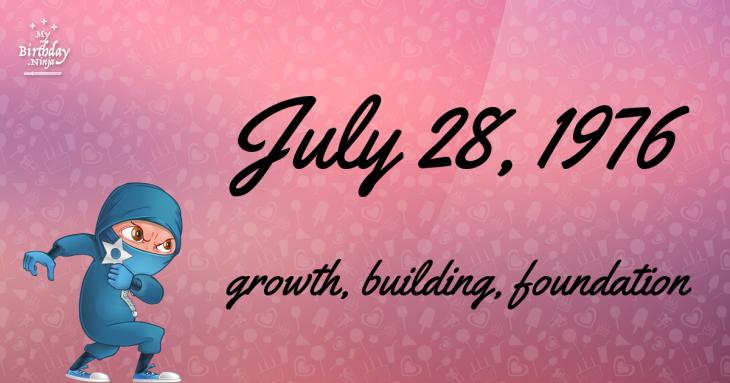 July 28, 1976 Birthday Ninja