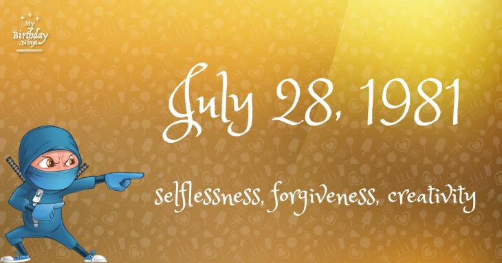 July 28, 1981 Birthday Ninja
