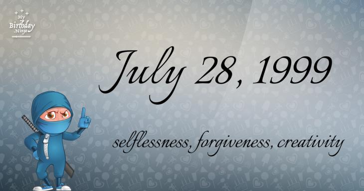 July 28, 1999 Birthday Ninja