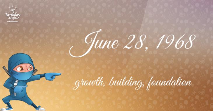 June 28, 1968 Birthday Ninja