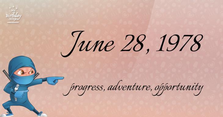June 28, 1978 Birthday Ninja