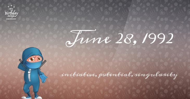 June 28, 1992 Birthday Ninja