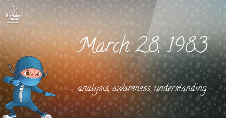March 28, 1983 Birthday Ninja