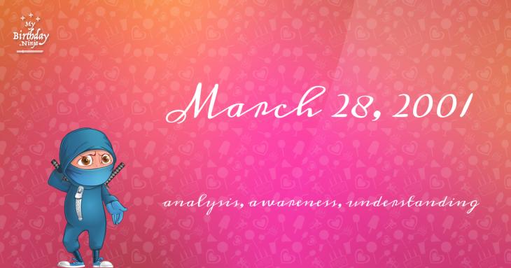 March 28, 2001 Birthday Ninja