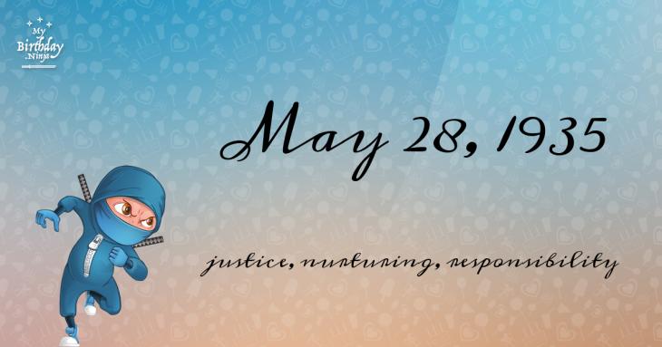 May 28, 1935 Birthday Ninja