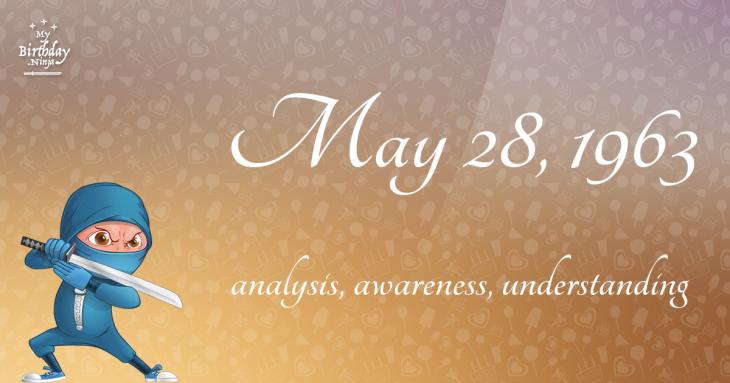 May 28, 1963 Birthday Ninja