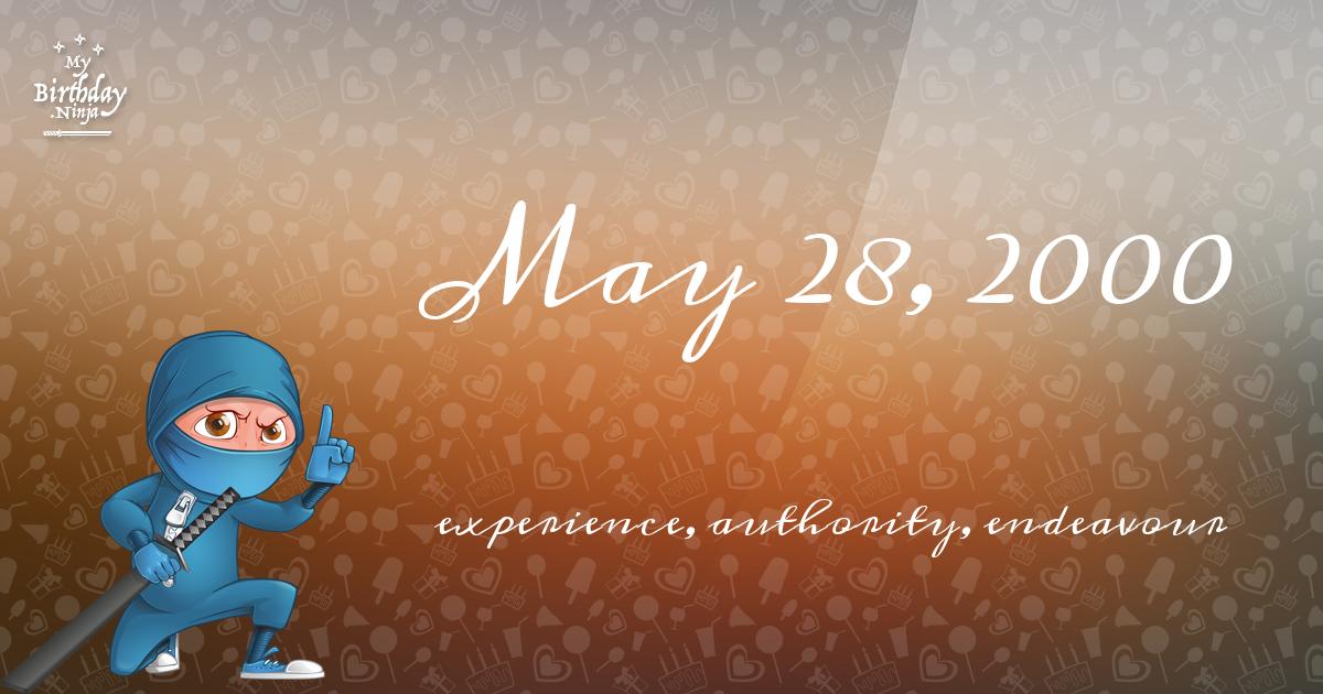 May 28, 2000 Birthday Ninja Poster