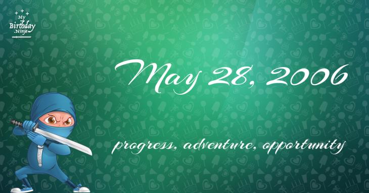 May 28, 2006 Birthday Ninja