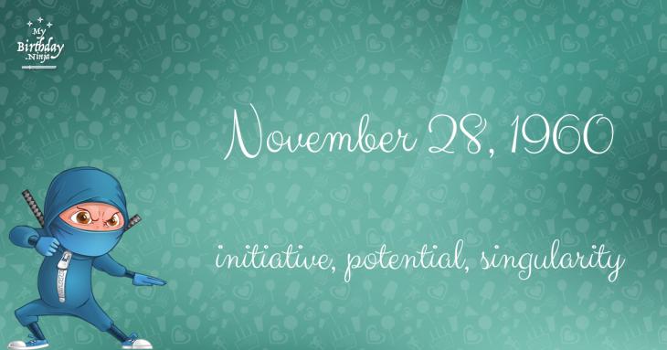 November 28, 1960 Birthday Ninja