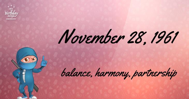 November 28, 1961 Birthday Ninja