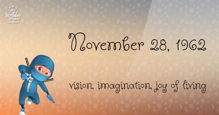 November 28, 1962 Birthday Ninja
