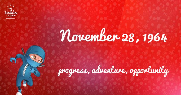 November 28, 1964 Birthday Ninja