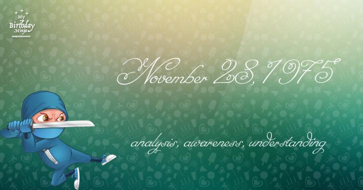 November 28, 1975 Birthday Ninja