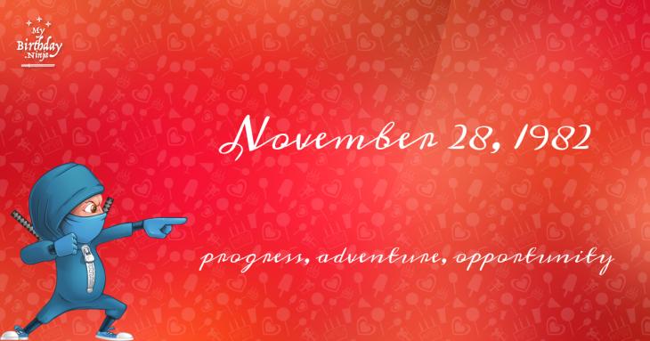 November 28, 1982 Birthday Ninja