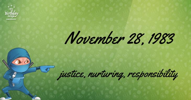 November 28, 1983 Birthday Ninja