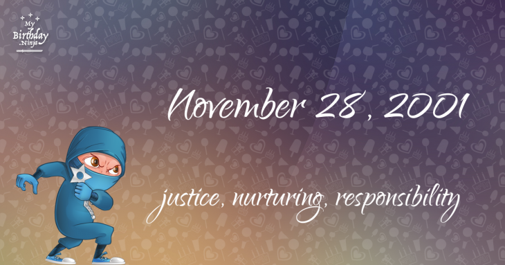 November 28, 2001 Birthday Ninja