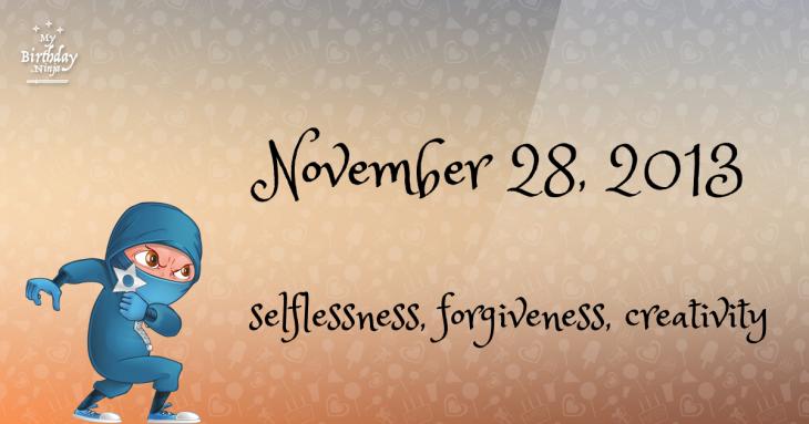 November 28, 2013 Birthday Ninja