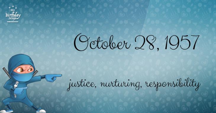 October 28, 1957 Birthday Ninja