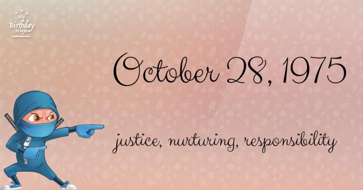 October 28, 1975 Birthday Ninja