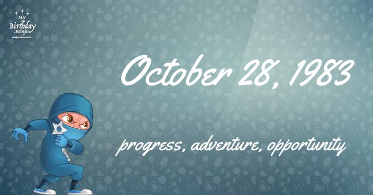 October 28, 1983 Birthday Ninja