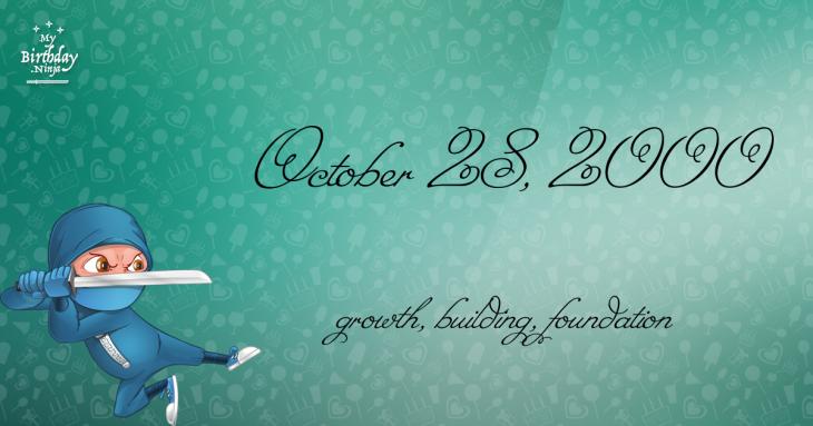 October 28, 2000 Birthday Ninja