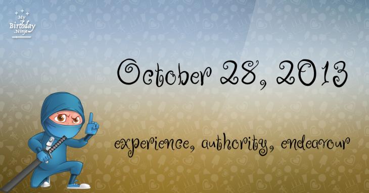 October 28, 2013 Birthday Ninja