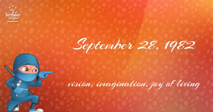 September 28, 1982 Birthday Ninja
