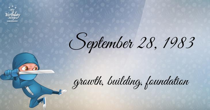 September 28, 1983 Birthday Ninja