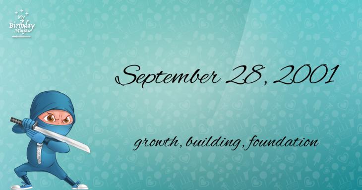 September 28, 2001 Birthday Ninja