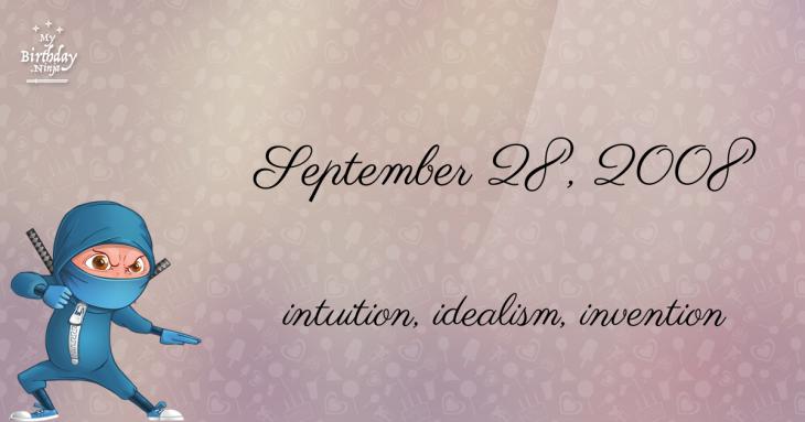 September 28, 2008 Birthday Ninja