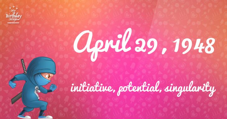April 29, 1948 Birthday Ninja