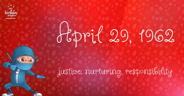 April 29, 1962 Birthday Ninja