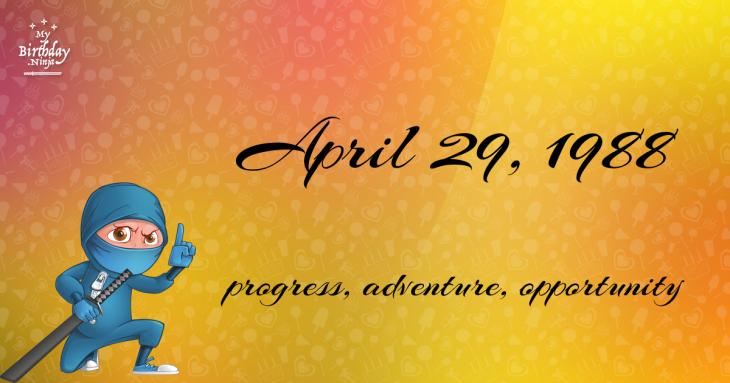 April 29, 1988 Birthday Ninja