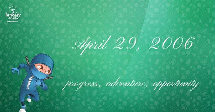 April 29, 2006 Birthday Ninja