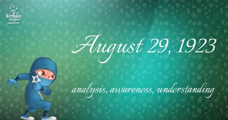 August 29, 1923 Birthday Ninja