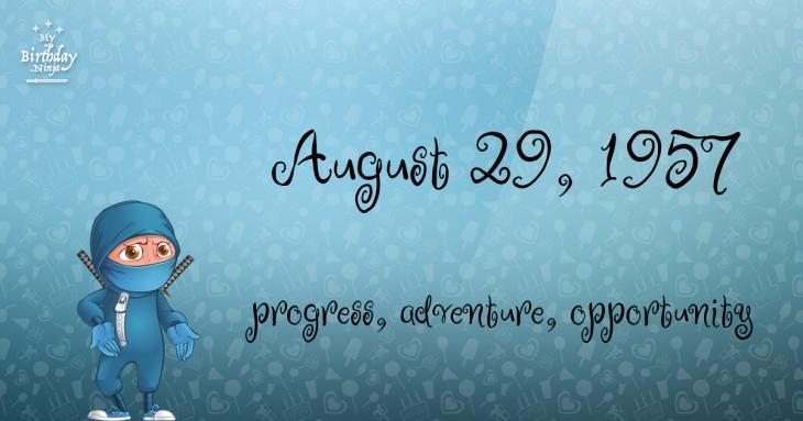 August 29, 1957 Birthday Ninja