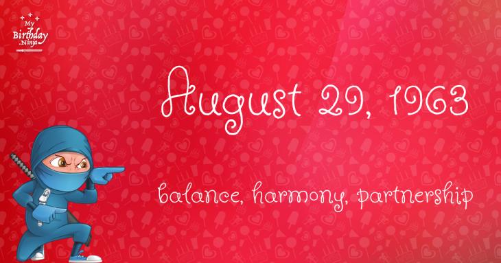 August 29, 1963 Birthday Ninja