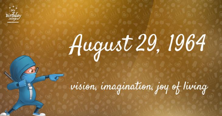 August 29, 1964 Birthday Ninja