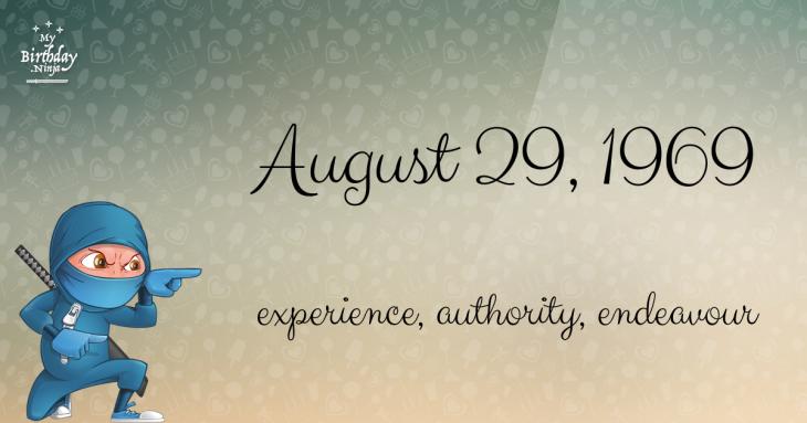 August 29, 1969 Birthday Ninja