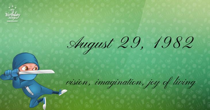 August 29, 1982 Birthday Ninja