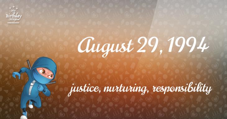 August 29, 1994 Birthday Ninja