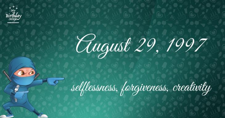August 29, 1997 Birthday Ninja