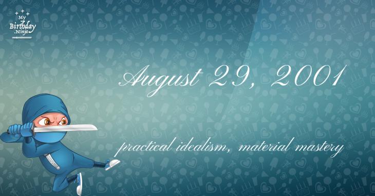 August 29, 2001 Birthday Ninja