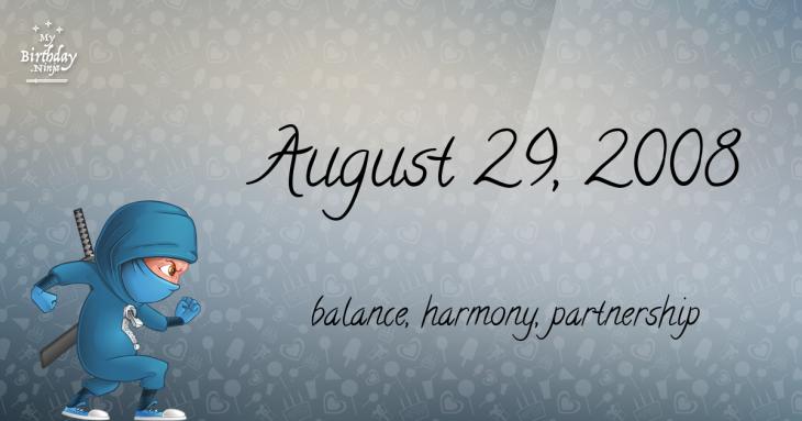 August 29, 2008 Birthday Ninja
