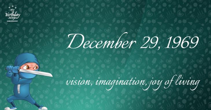 December 29, 1969 Birthday Ninja