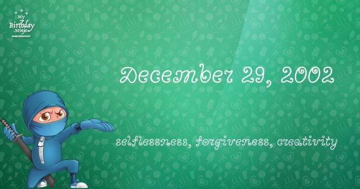 December 29, 2002 Birthday Ninja