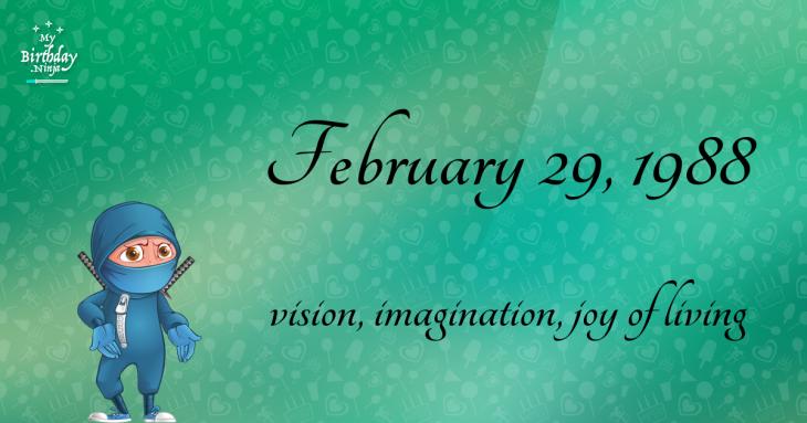 February 29, 1988 Birthday Ninja