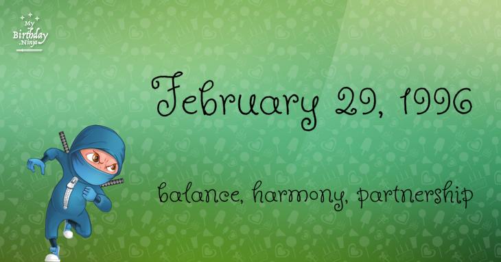 February 29, 1996 Birthday Ninja
