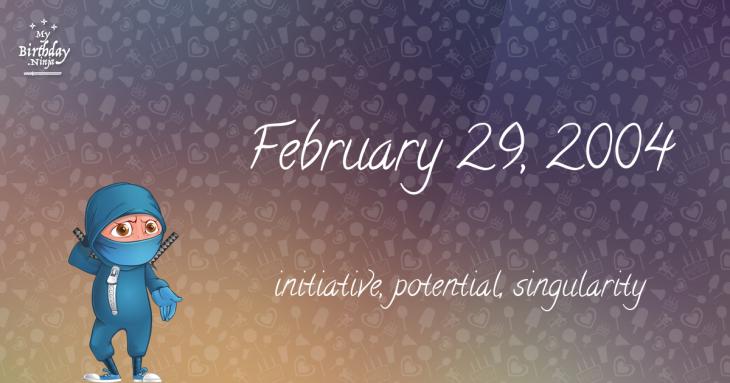 February 29, 2004 Birthday Ninja