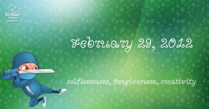 February 29, 2012 Birthday Ninja
